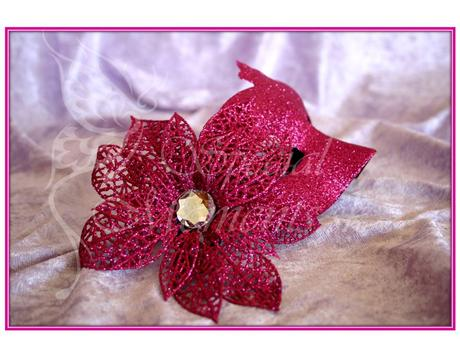 Tmavo ružová trblietková škraboška-posledné 3 ks ,