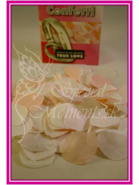 Vintage papierové konfety guľaté,