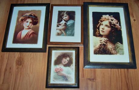 Obrazy - portréty v štýle vintage,