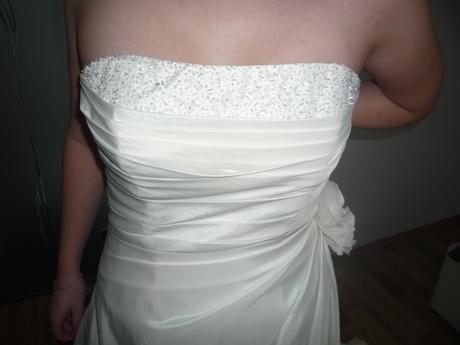 Svatební šaty v barvě champagne vel. 40, 40