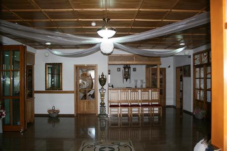 Výzdoba stropu sály,