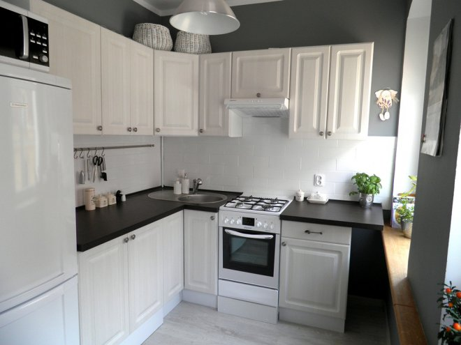 Kuchyňa  Inšpirácie  Modrastrecha sk # Castorama Kuchnia Unik Czarny
