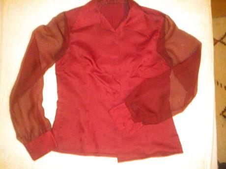 Bluzka s priesvitnymi rukavmi, 40