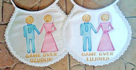 Svadobné podbradníky ,