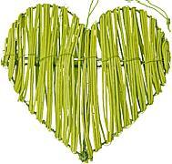 Srdce z ratanu světle zelené - 55 Kč / kus,