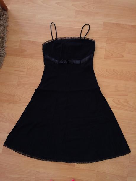 Čierne šaty S/M, 36