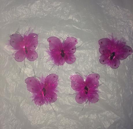 Cyklámenové motýliky 5ks,