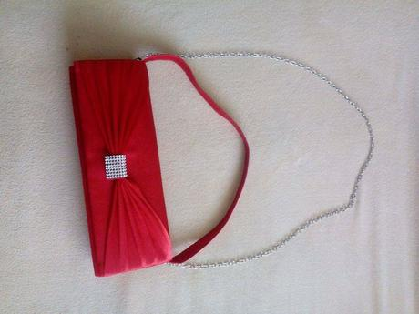 Topanky červené + kabelka, 38