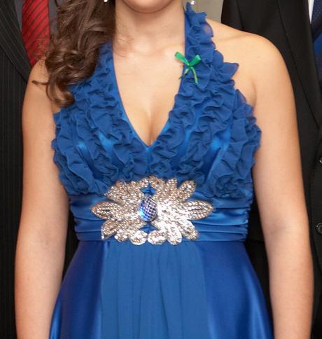 Modré šaty veľkosť 36, 36