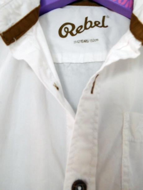 Bílá košile s krátkým rukávem Rebel, 152