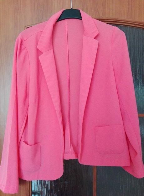 Růžové sako sáčko blejzr George, 46
