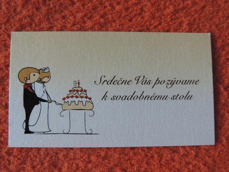 Pozvánky k svadobnému stolu,