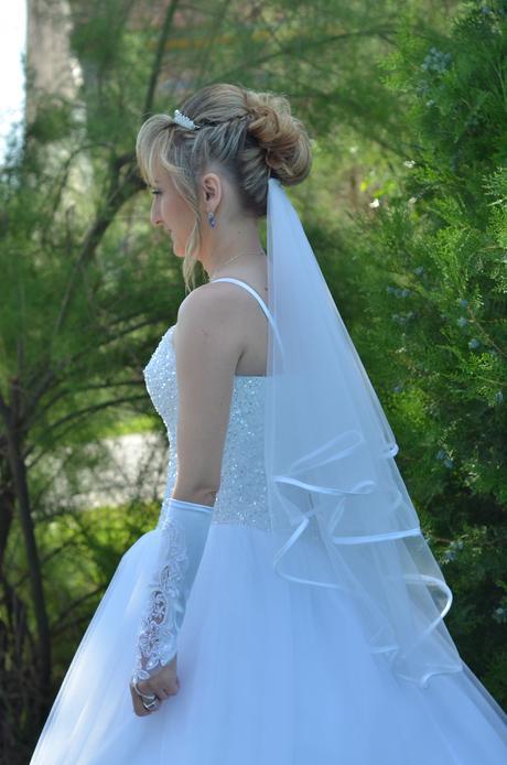 Svadobné šaty s doplnkami 34-36-38-40, 36