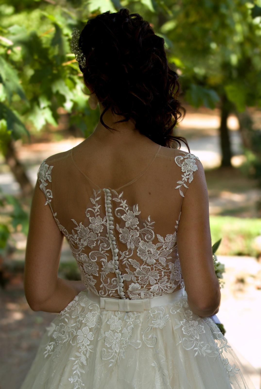 4581a83fbf89 Romantické svadobné šaty - ivory - 34
