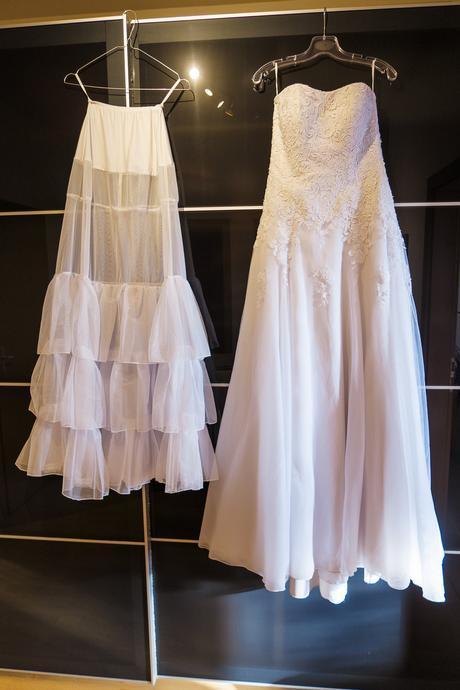 Bílé svatební šaty šité v Madoře (38-42), 40