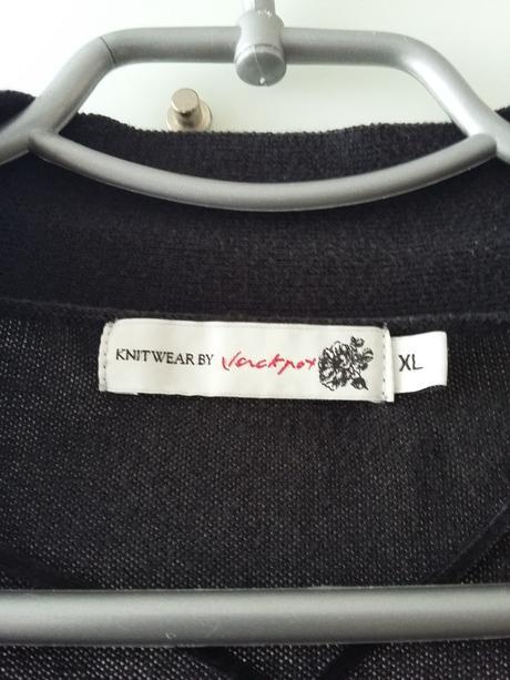 Černý svetřík s dlouhým rukávem, XL