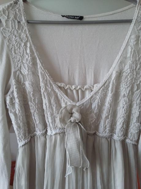 Krátké bílo šedé šaty, vel. 42 a více, 44