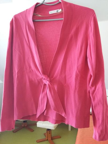 Svetřík růžové barvy s dlouhým rukávem, XL