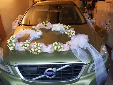 Unikátní výzdoba auta pro nevěstu ,
