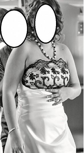 Černobílé svatební šaty, 44