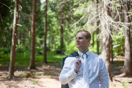 Svadobná kravata s kapesníčkom,