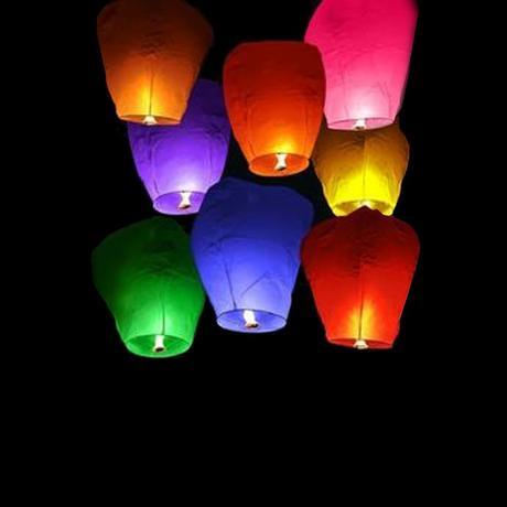 Lampiony štěstí - Sada COLOR MIX,