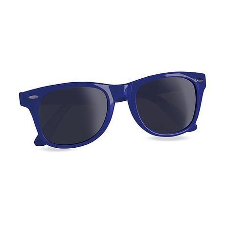 MODRÉ sluneční brýle,
