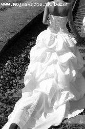 Raz oblečené biele svadobné šaty na predaj, 36