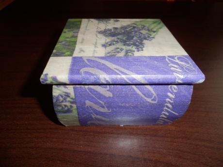 levandulová krabička/šperkovnica ,