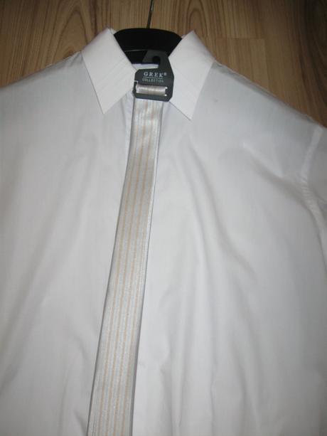 svadobná, spoločenská košeľa + kravata, 40