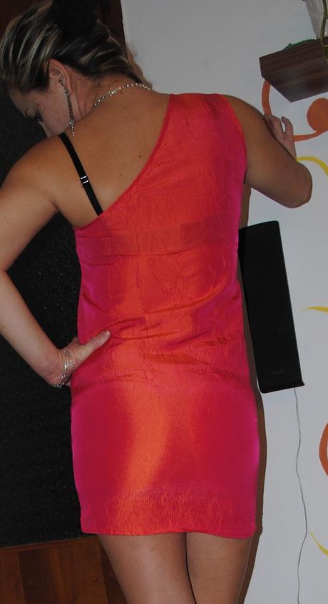 Orandzové premenlivé šaty, M