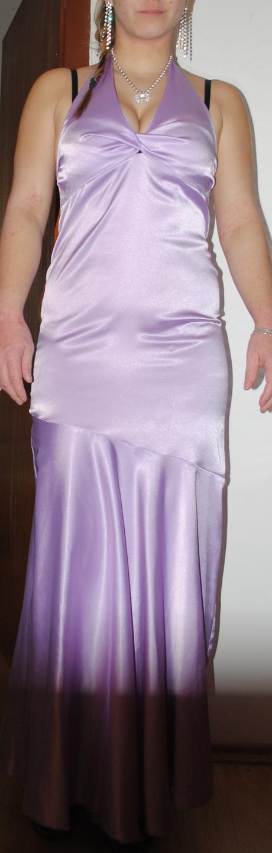 Saténové dlhé šaty, M