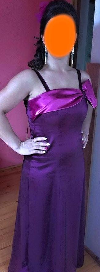 Fialkovo- cyklámenové šaty, 40