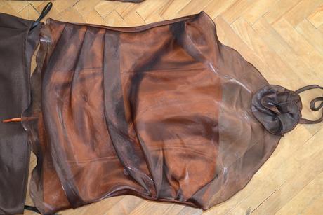 zlato-hnedé korzetové šaty vhodné na karneval, 38