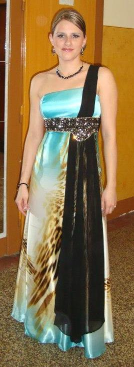 Modro-tigrie šaty, 38