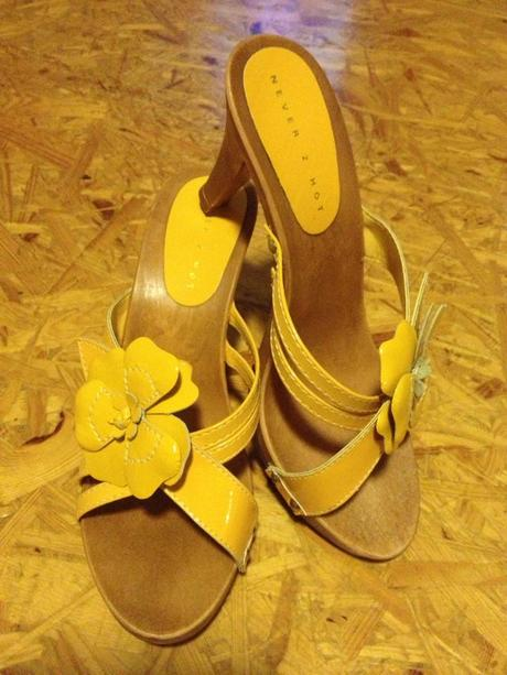 Sandálky ve žluté, 40