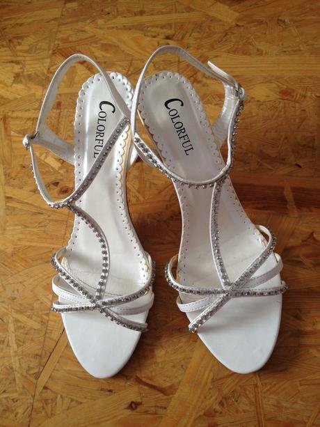 Svatební botky s kamínky , 40