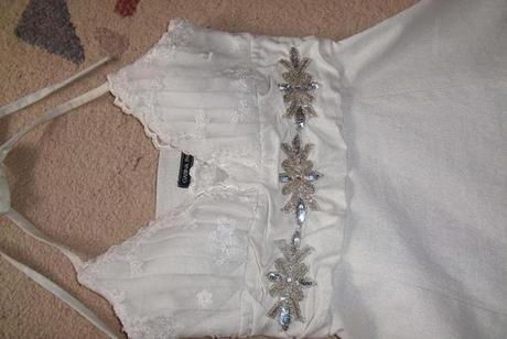 šaty svatebny nebo pro družičku raz použité , 36
