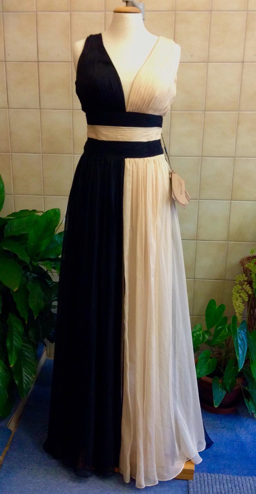Dvojfarebné nenosené spoločenské šaty 597bcb9b6e7