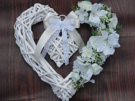 Veľke ivory biele srdce,