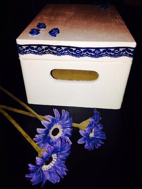 Modré umělé květiny 4 ks,