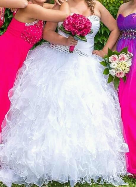 Svatební šaty s kaminkovym korzetem 38-42, 38