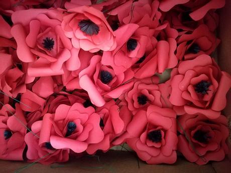 Červené květy (vlčí mák) - vlastní výroba,