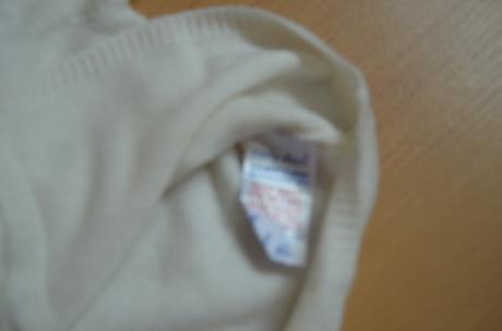 Biely svetrik s kozusinkou, znacka Adams, 80