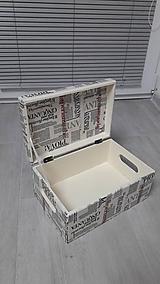 Drevený box s vekom na otváranie,