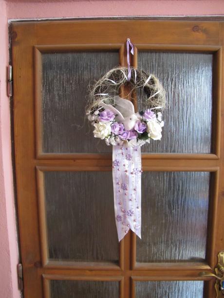 Svadobná výzdoba na vchodové dvere,