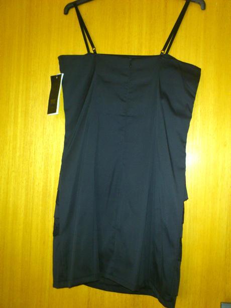 čierne mini šaty, S