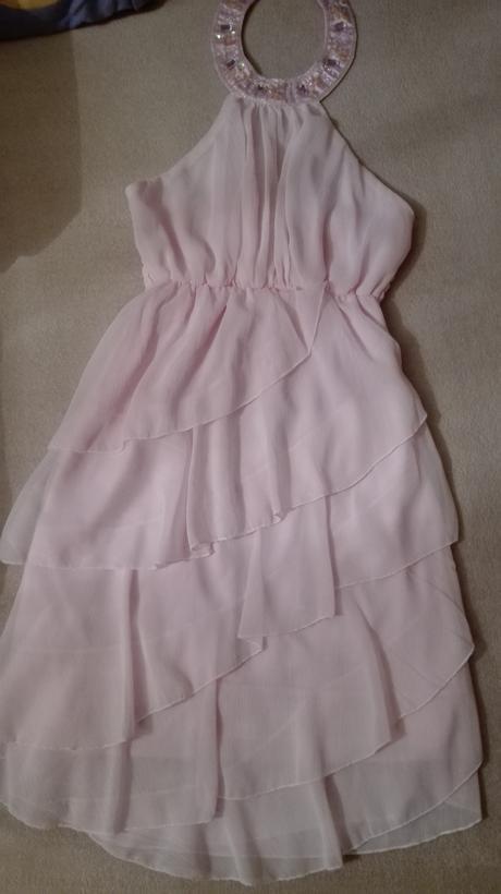 krátke ružové šaty, S