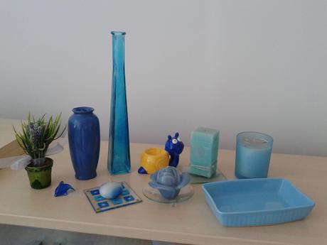 dekorácie modré,