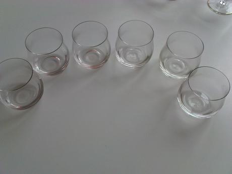 Poháre s tenkého skla 6 ks ,